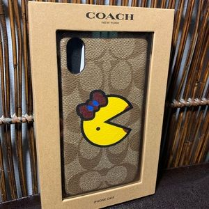 Coach Ms Pac Man IPhone X phone case! Brand New!